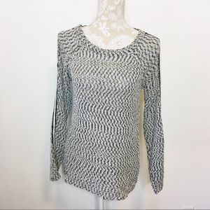 Trouve Chunky Knit Marled Sweater Top Medium 1222